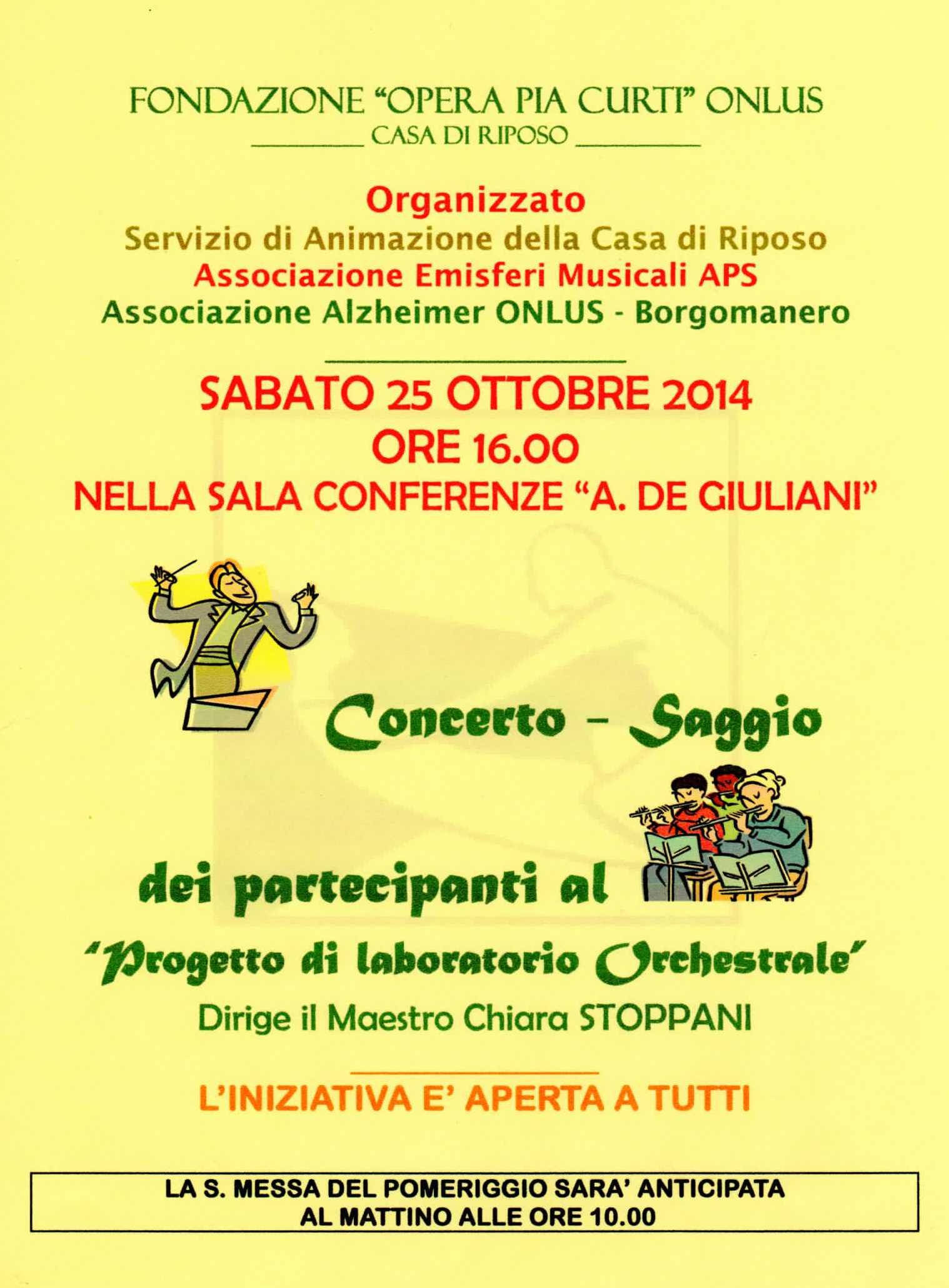 Saggio Musicale all'Opera Pia Curti di Borgomanero